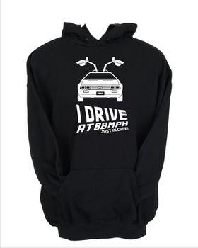 JuiceBubble I Drive at 88mph Men's Black Hoodie