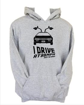 JuiceBubble I Drive at 88mph Men's Grey Hoodie