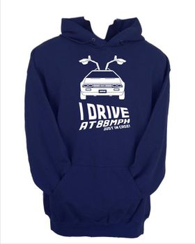 JuiceBubble I Drive at 88mph Men's Navy Hoodie