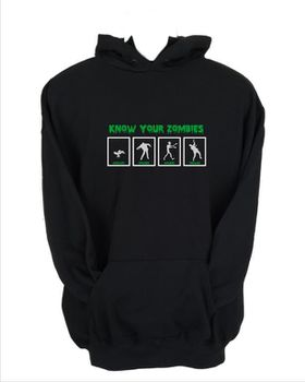 JuiceBubble Know Your Zombies Men's Black Hoodie