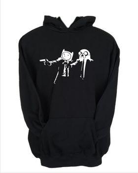 JuiceBubble Pulp Fiction Adventure Time Men's Black Hoodie