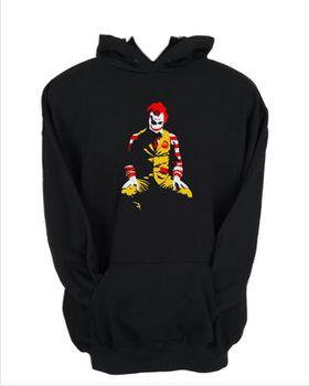 JuiceBubble Ronald McDonald Joker Men's Black Hoodie (Size: 2X-Large)