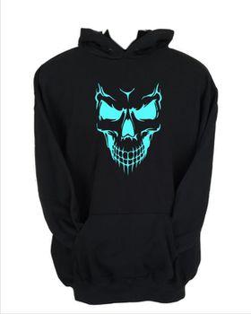 JuiceBubble Scary Skull Face Men's Black Hoodie