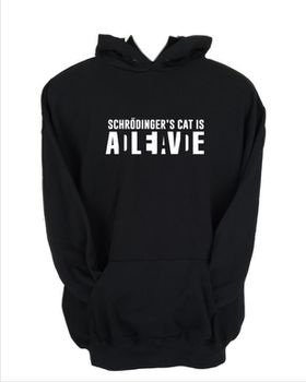 JuiceBubble Schrodingers Cat Men's Black Hoodie