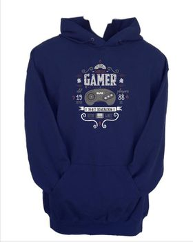 JuiceBubble The Mega Gamer Men's Navy Hoodie