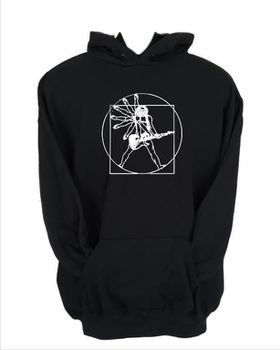 JuiceBubble Vitruvian Guitar Man Men's Black Hoodie
