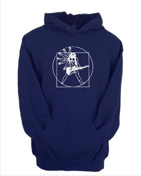 JuiceBubble Vitruvian Guitar Man Men's Navy Hoodie