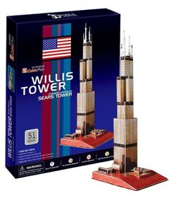 Cubic Fun Sears Tower (USA) 51 pieces 3D Puzzle
