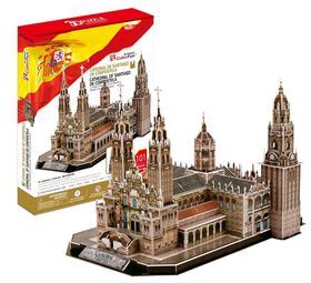 Cubic Fun Cathedral De Santiago (Spain) 101 piececs 3D Puzzle