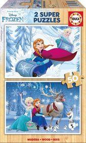 Educa Frozen Wooden Puzzle (2x50piece)