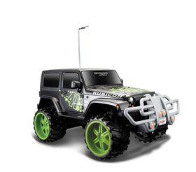 Maisto 1/16 R/C Jeep Wrangler Rubicon in Black