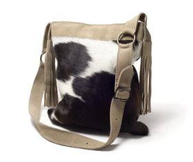 Leechi Designs Nguni Tassel Bag Stone