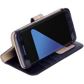 Krusell Sigtuna FolioWallet for Samsung Galaxy S7 Edge - Black (Genuine Leather)