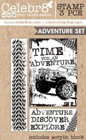 Celebr8 Macho Man Stamp - Adventure Set
