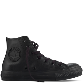 Converse All Star Unisex Chuck Taylor Leather Mono Hi - Black