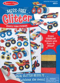 Melissa & Doug Mess Free Glitter Vehicle Foam Sticker