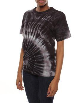 Original Hippies Tie-Dye Unisex T-Shirt - Black Grey & White Mix