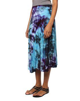 Original Hippies Tie-Dye Circular Skirt - Purple Blue & Black Mix