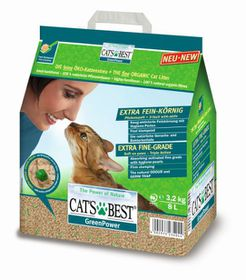 Cat's Best - Green Power clumping ECO Cat Litter - 3.2kg/ 8L
