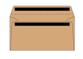 Merpak DL Banker Brown KwikSeal Envelopes (110 x 220mm) - Box of 500