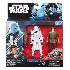 """Starwars S1 Swu 3.75"""" Deluxe Figure - Snowtrooper & Poe Dameron"""