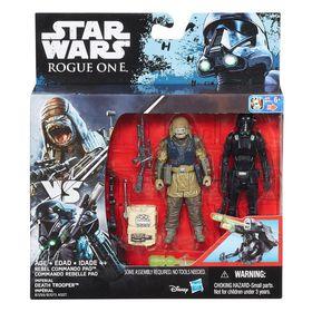 """Starwars S1 Swu 3.75"""" Deluxe Figure - Rebel Commando Pao & Death Trooper"""