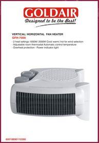 Goldair - Vertical Horizontal Fan Heater - White