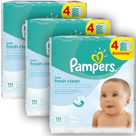 Pampers - Baby Wipes Fresh - 12 x 64 Bulk Pack (768 Wipes)