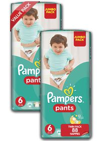 Pampers - Active Baby Nappy Pants - Size 6 - Twin Jumbo Pack (2 x 44 count)