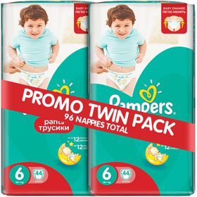 Pampers - Active Baby Pants 2 x 44 Nappies - Size 6 Twin Jumbo Pack