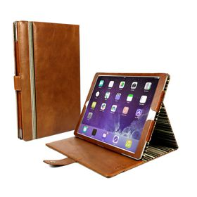 Tuff-Luv Alston Craig Vintage Genuine Leather Slim-Stand Case Cover for Apple iPad Pro 9.7 / iPad Air 2 - Brown (includes: Sleep Function)