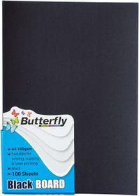 Butterfly A4 Bright Board 100s - Black