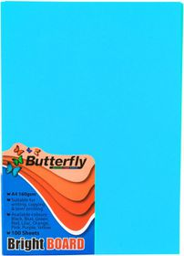 Butterfly A4 Bright Board 100s - Blue