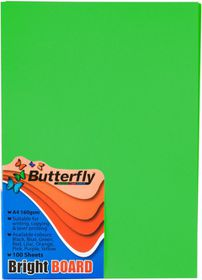 Butterfly A4 Bright Board 100s - Green