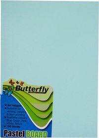Butterfly A4 Pastel Board 100s - Blue