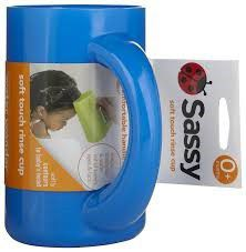 Sassy - Soft Touch Rinse Cup - Blue