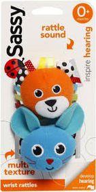 Sassy - Wrist Rattles - Orange and Blue