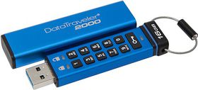 Kingston DataTraveler 2000 USB 3.0 Secure Flash Drive - 16GB