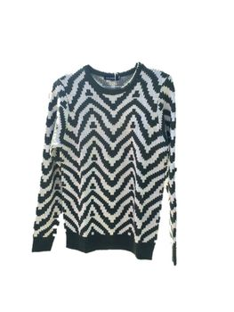 Knitted Jumper - Green and Cream