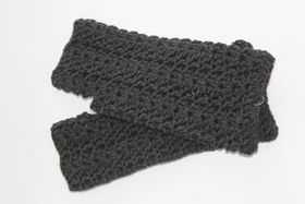 Vine Accessories Fingerless Gloves - Charcoal