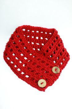 Vine Accessories Crochet Scarf - Red