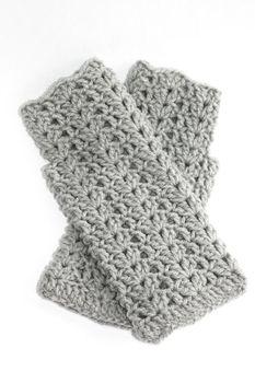 Vine Accessories Fingerless Long Gloves - Light Grey
