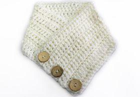 Vine Accessories Crochet Scarf - White