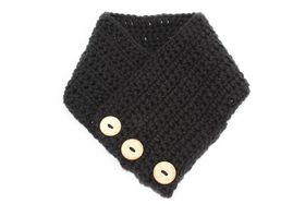 Vine Accessories Crochet Scarf - Black