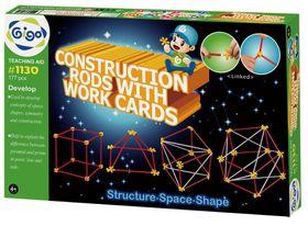 Gigo Construction Rods with Work Cards - 177 Pieces