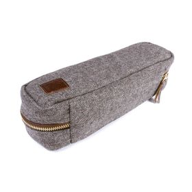 Herringbone Tweed NFC Travel Case - Brown