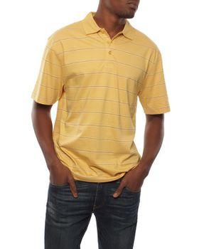 Patrick J Pin Striped Golfer - Mustard