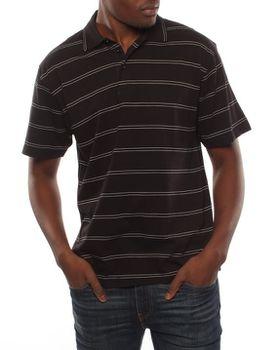 Patrick J Double Pin-Striped Golfer - Black