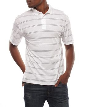 Patrick J Double Pin-Striped Golfer - White