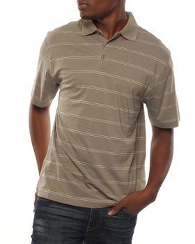 Patrick J Double Pin-Striped Golfer - Olive